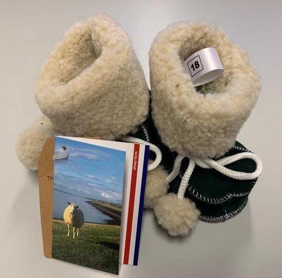 Woolwarmers Kindersloffen - Bruin - Maat 16/17