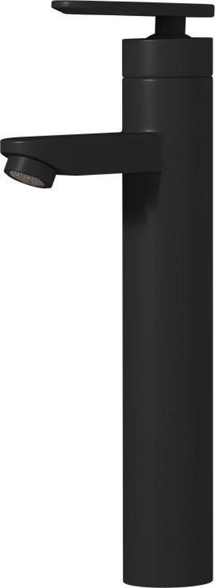 Badplaats - Wastafelkraan Denver XL - Mengkraan - Zwart - Extra hoge uitvoering