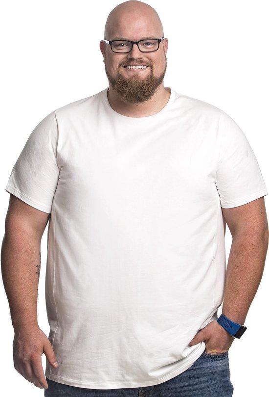 4xl 2pack T-shirt Heren Ronde-hals Wit   Grote Maten Ronde Hals Buikmaat 138...