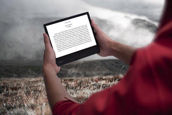 Forma e-reader - Waterdicht - Grote 8 inch scherm - Instelbaar warme kleur - 32GB - Wifi - Zwart