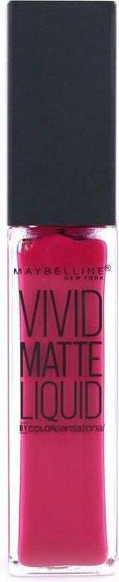 Maybelline Color Sensational Vivid Matte Liquid - 40 Berry Boost - Matte Lipstick lippenstift Roze Mat - Maybelline