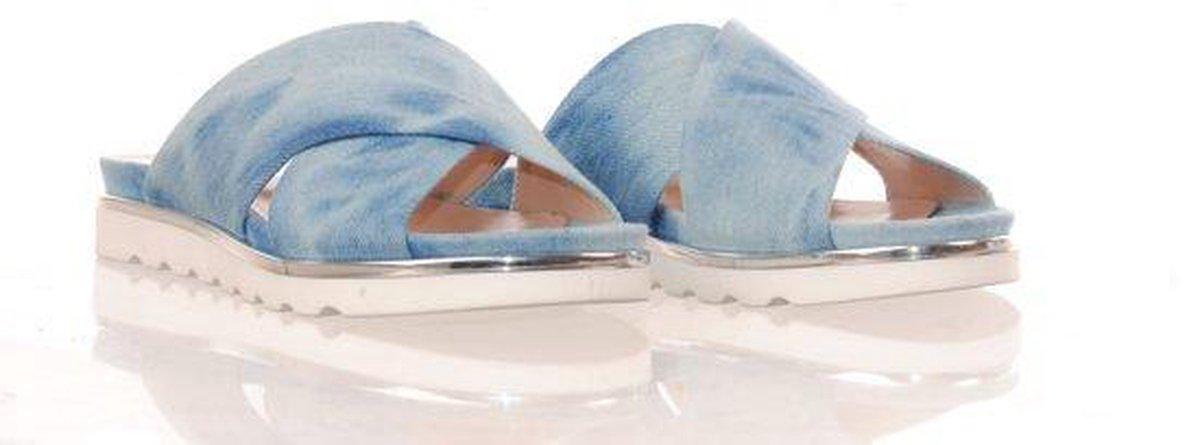 MAURY slipper jeans blauw Muiltjes