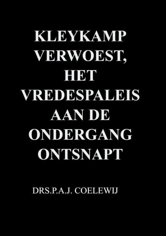 Kleykamp verwoest, het Vredespaleis aan de ondergang ontsnapt - Drs.P.A.J. Coelewij | Fthsonline.com
