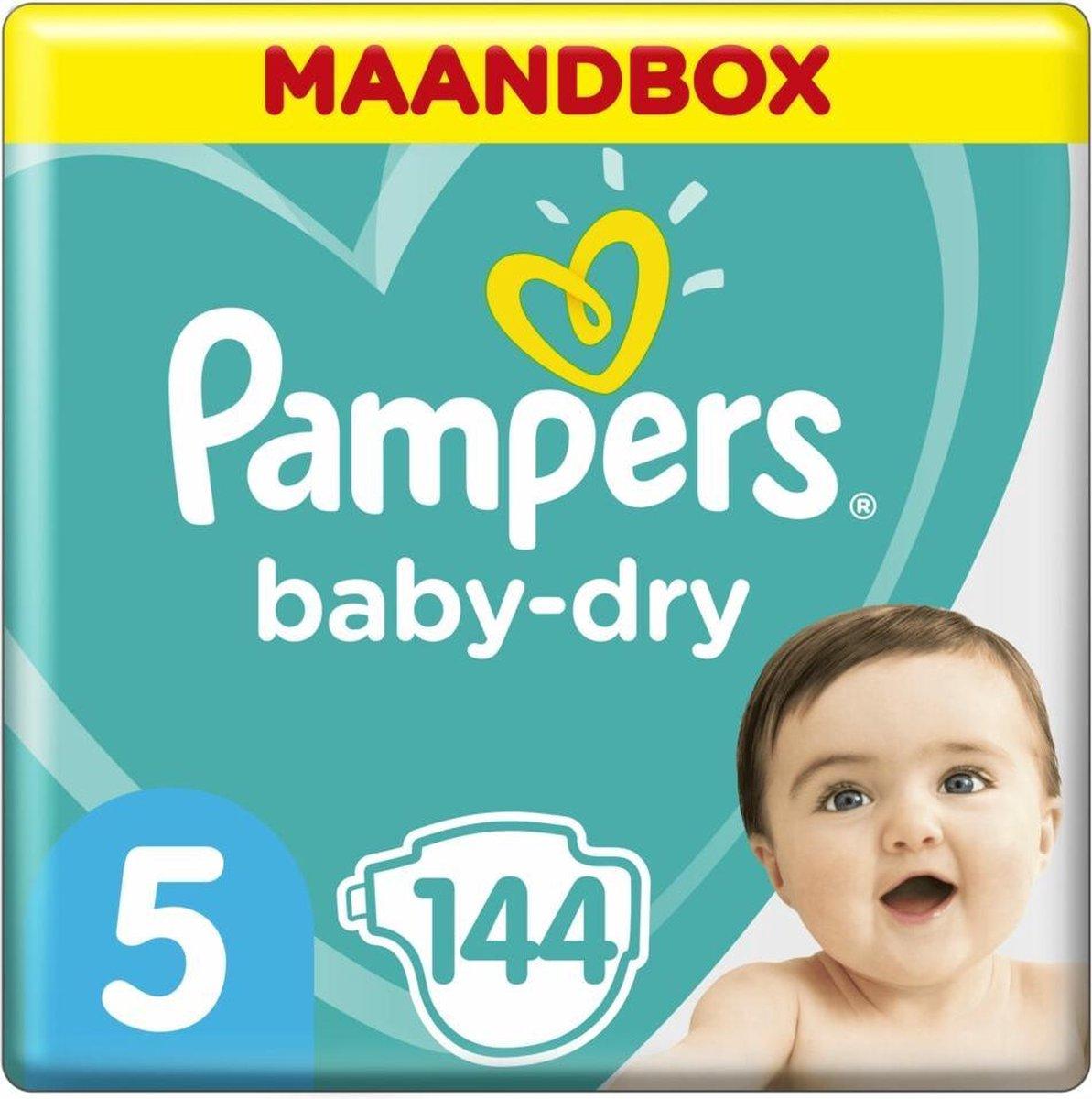 Pampers Baby-Dry Luiers - Maat 5 (11-16 kg) - 144 stuks - Maandbox - Pampers