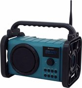 soundmaster DAB80 Bouwradio DAB+, FM Bluetooth, DAB+ Handsfreefunctie, Spatwaterbestendig, Stofdicht Turquoise