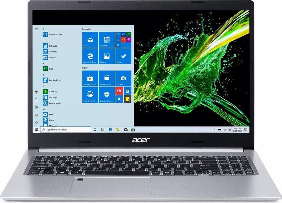 "Acer Aspire 5 Notebook Zilver 39,6 cm (15.6"") 1920 x 1080 Pixels Intel® 10de generatie Core™ i5 16 GB DDR4-SDRAM 512 GB SSD Wi-Fi 6 (802.11ax) Windows 10 Home"