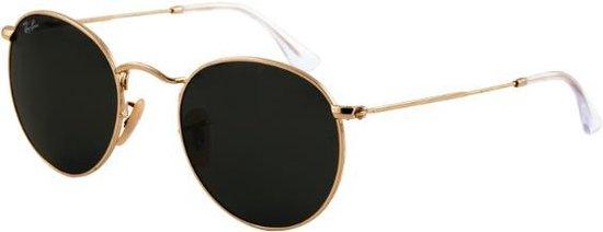 Ray-Ban RB3447 001 - Round Metal - zonnebril - Goud / Groen Klassiek G-15 - 50mm