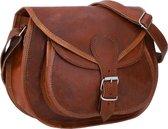GUSTI LEDER 'Evelyn' handtas | 100% geitenleer | bruin | dames | De tas voor het dagelijks leven en uw feestleven