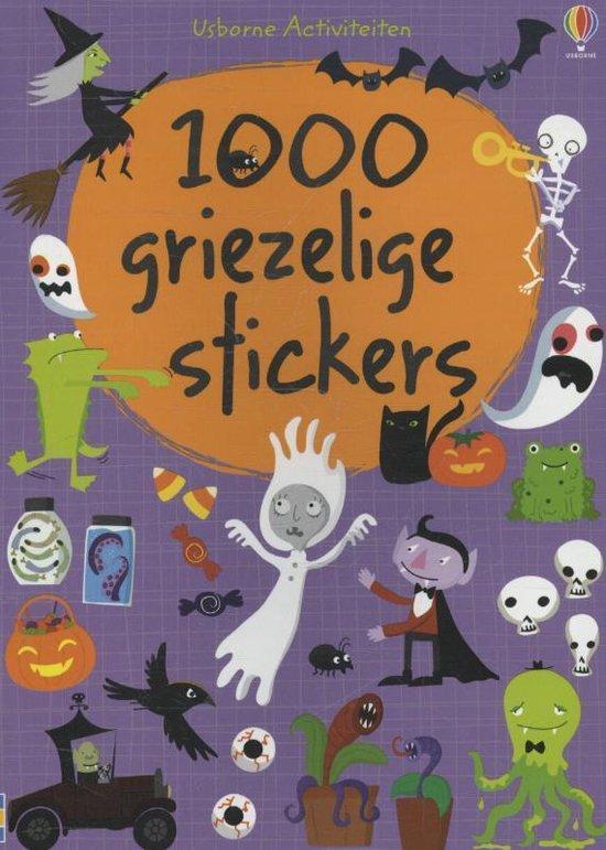 Cover van het boek '1000 GRIEZELIGE STICKERS'