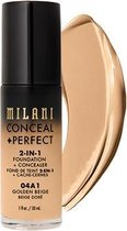 Milani Conceal + Perfect 2-in-1 Foundation + Concealer Kryj?cy Podk?ad Do Twarzy 04a1 Golden Beige 30ml