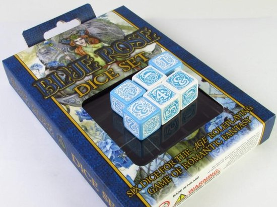 Afbeelding van het spel Blue Rose Dice set