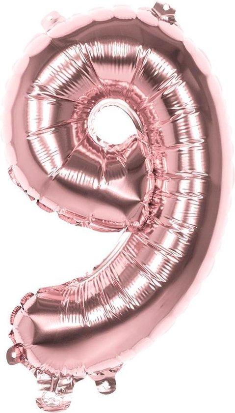 Boland Cijferballon 9 Folie 66 Cm Roségoud