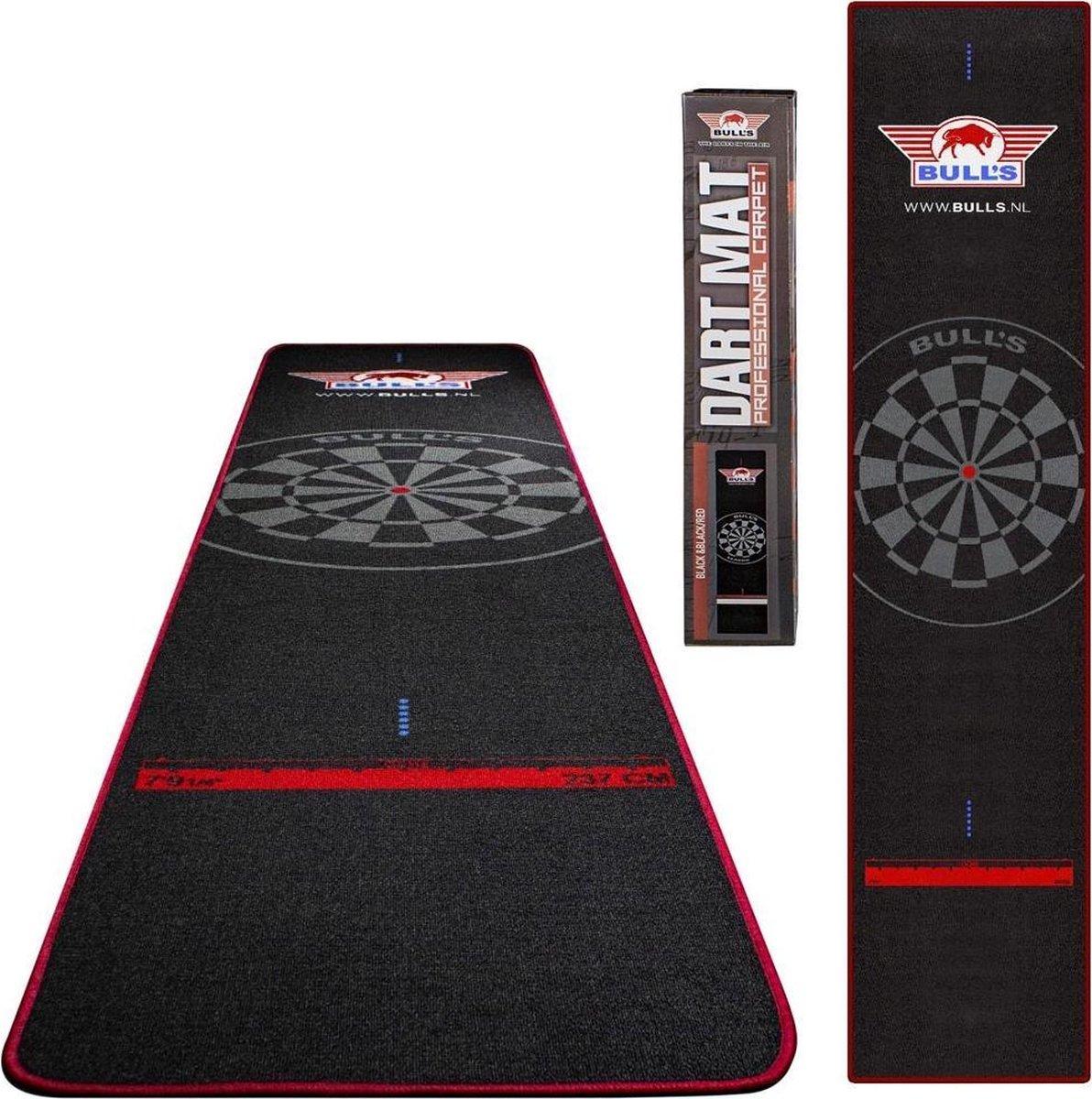 Bulls Carpet Oche Dartmat 300 x 65cm black-red.