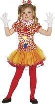 FIESTAS GUIRCA, S.L. - Clownskostuum met tutu voor meisjes - 122/134 (7-9 jaar) - Kinderkostuums