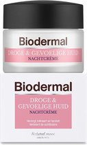 Bol.com-Biodermal Nachtcrème Droge & Gevoelige Huid  - Hydrateert en herstelt - 50ml-aanbieding