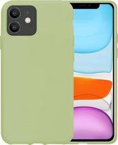 iPhone 11 Hoesje Siliconen Case Hoes Back Cover TPU - Groen