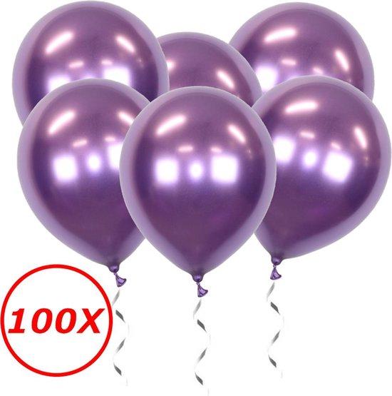 Paarse Ballonnen Verjaardag Versiering Paars Helium Ballonnen Feest Versiering Halloween Decoratie Chrome - 100 Stuks