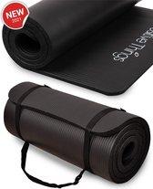 Positive Things - Fitness Mat 1 CM Dik - XL Sport Mat Zwart - NBR Fitnessmat
