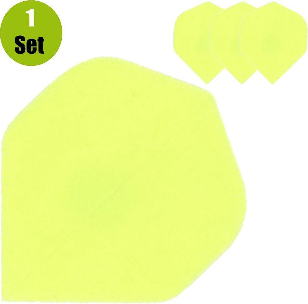 Poly Plain Dartflights - Fluor Geel- (1 Set)