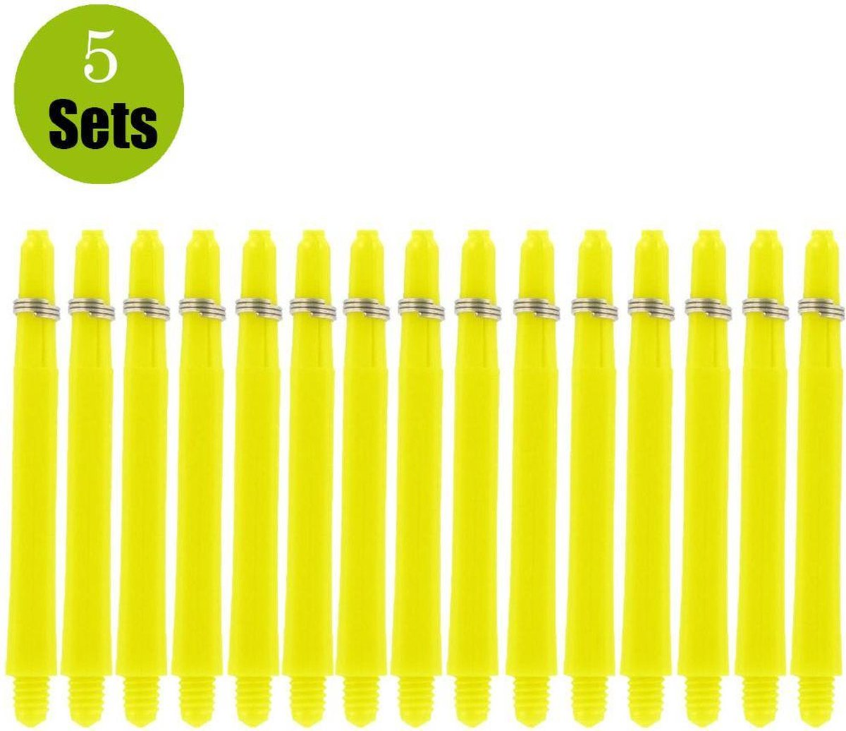 Bulls Nylon 5Sets DartShafts - Geel - Short - (5 Sets)