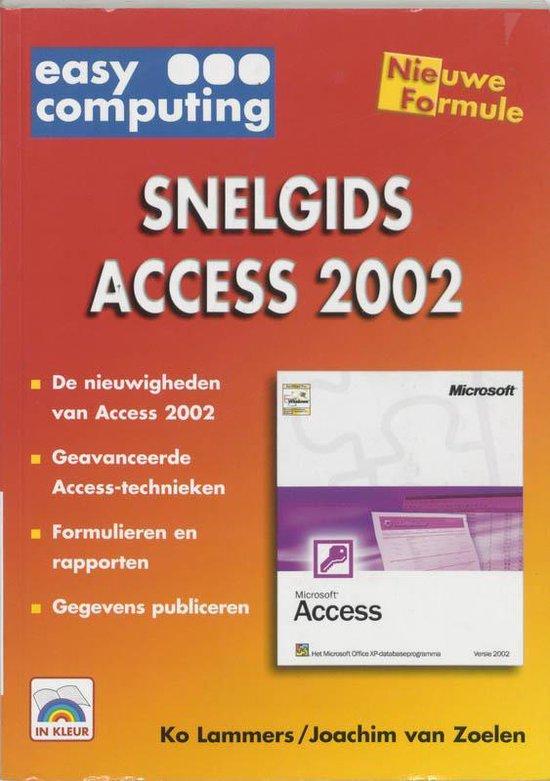Cover van het boek 'Snelgids Access 2002'