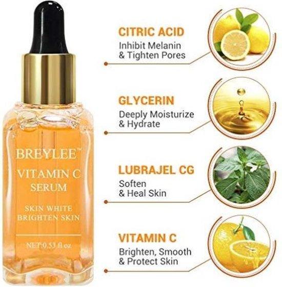 Vitamin C Serum | Vitamine C serum |  Mannen en Vrouwen | Gezicht en Hals | Anti-aging | Anti-Rimpel | 15 ml - breylee
