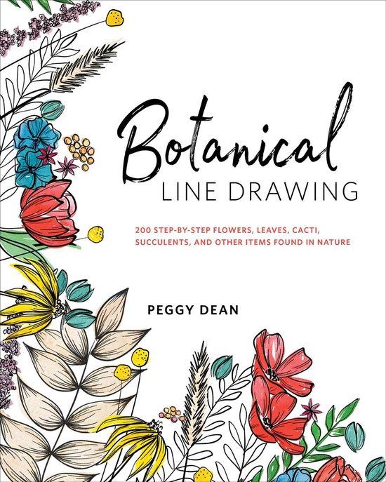 Boek cover Botanical Line Drawing van Peggy Dean (Onbekend)