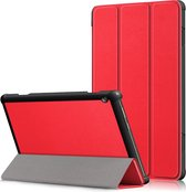 3-Vouw sleepcover hoes - Lenovo Tab M10 - Rood
