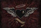 Fotobehang Alchemy Heart Dark Angel Tattoo   XXL - 312cm x 219cm   130g/m2 Vlies
