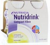 Nutridrink Compact  Fibre Vanille - 4 x 125 ml
