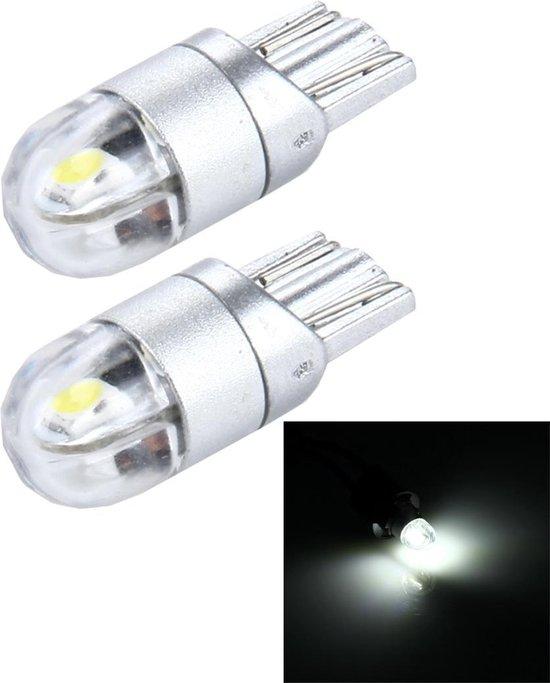 2 STKS T10 2 W 150 LM 6000 K 2 SMD-3030 LED Auto Klaring Lichten Lamp, DC 12 V (Wit Licht)