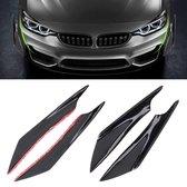 4 STKS Auto-Styling Flank Decoratieve Sticker (zwart)