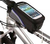 Waterdichte Telefoonhouder met opbergvak (maat S) voor fiets of mountainbike, Roswheel Telefoon - Fietstas - Frame. o.a. voor iPhone 4 / 4s, 5 / 5C /5s, Galaxy J1, A3, S2 plus, S3 mini, S4 mini enz