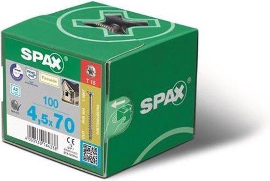 Spax Spaanplaatschroef Verzinkt Torx 4.0 x 25 - 200 stuks