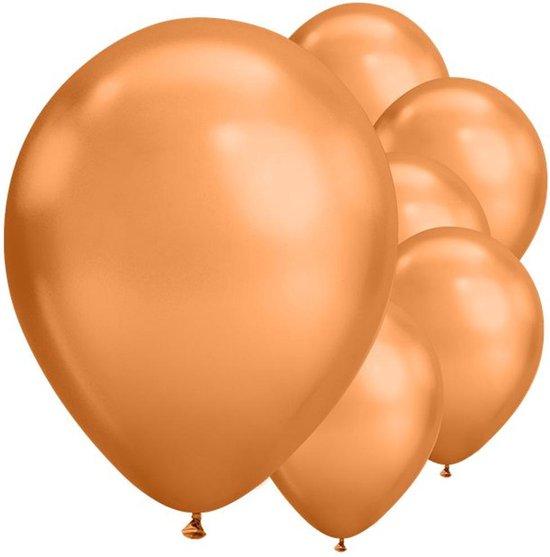 Ballonnen Chrome Koper - 5 stuks