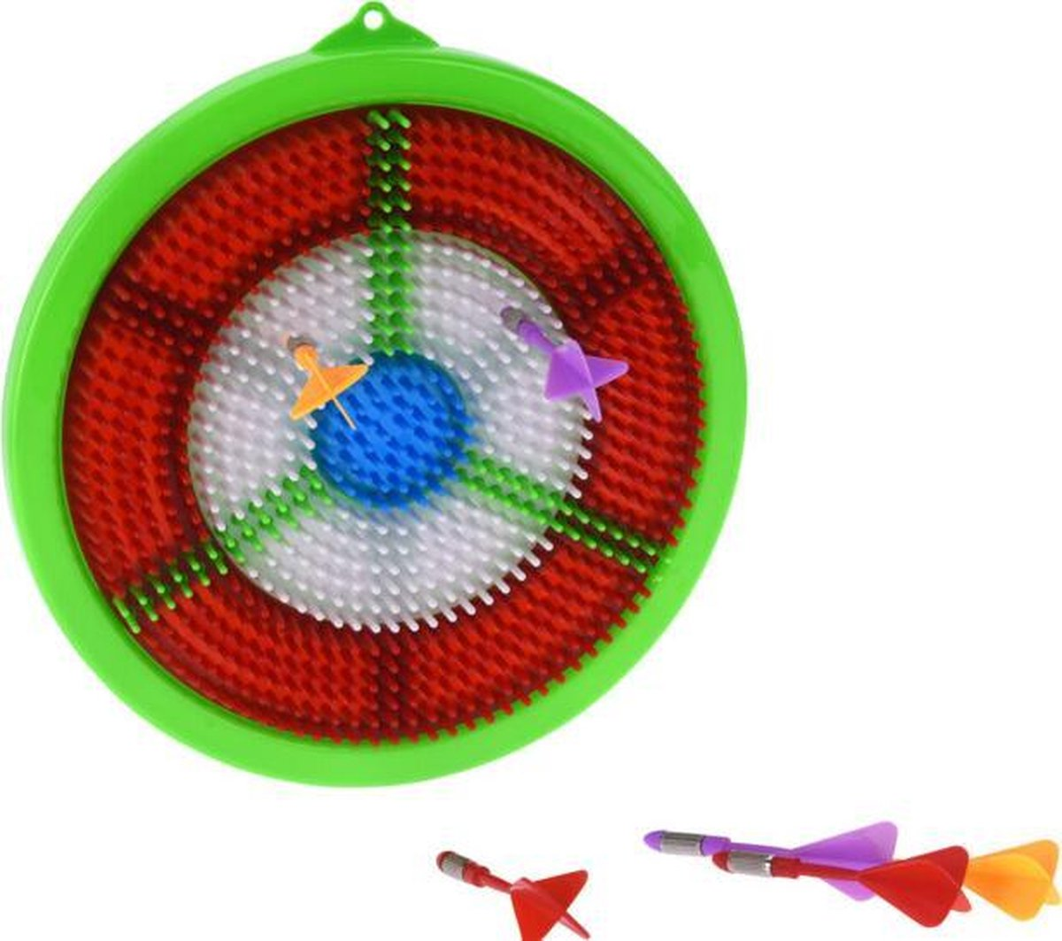 dartbordset junior 23,5 cm groen/rood 7-delig