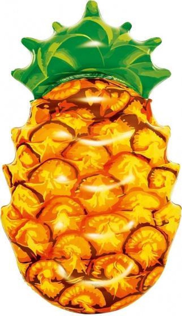 luchtbed ananas 174 x 89 cm PVC oranje