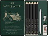 Grafietpotlood Faber-Castell Pitt Mat Etui set 11 stuks