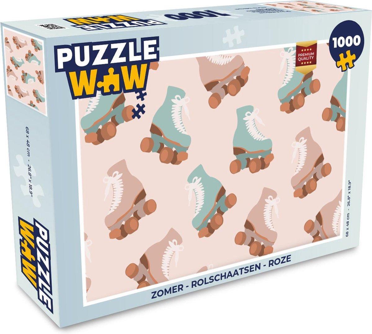 Puzzel Zomer - Rolschaatsen - Roze - Legpuzzel - Puzzel 1000 stukjes volwassenen