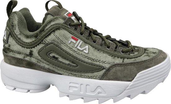 Fila Disruptor S Wmn Low 1010555-50I, Vrouwen, Groen, Sneakers maat: 40 EU