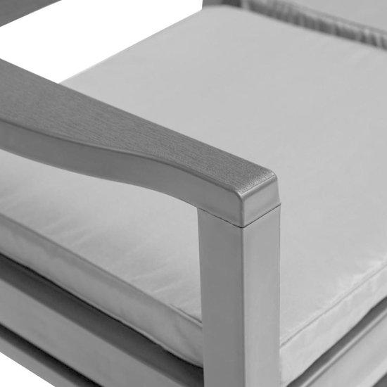 vidaXL Tuinbank met kussens tweezits 133 cm kunststof antraciet