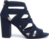 Sacha - Dames - opengewerkte sandalen met hak