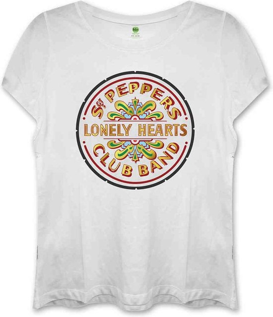 The Beatles Dames Tshirt -L- Sgt Pepper Wit