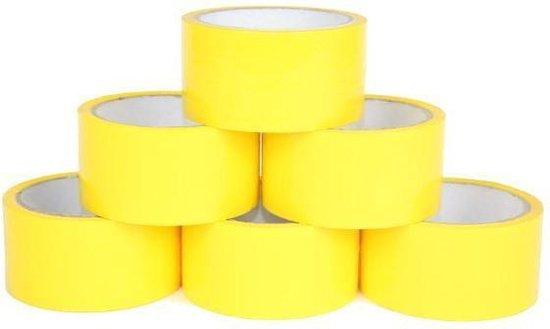 Verpakkingstape Eco Solvent 48mm x 50 meter - geel - 36 stuks