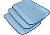 3-pack microvezeldoeken voor vochtig afnemen voor Braava - Paars | Blauw