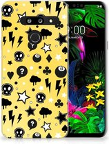 LG G8 Thinq Silicone Back Case Punk Yellow