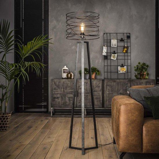 Livin24 Industriële Vloerlamp Curl - Charcoal
