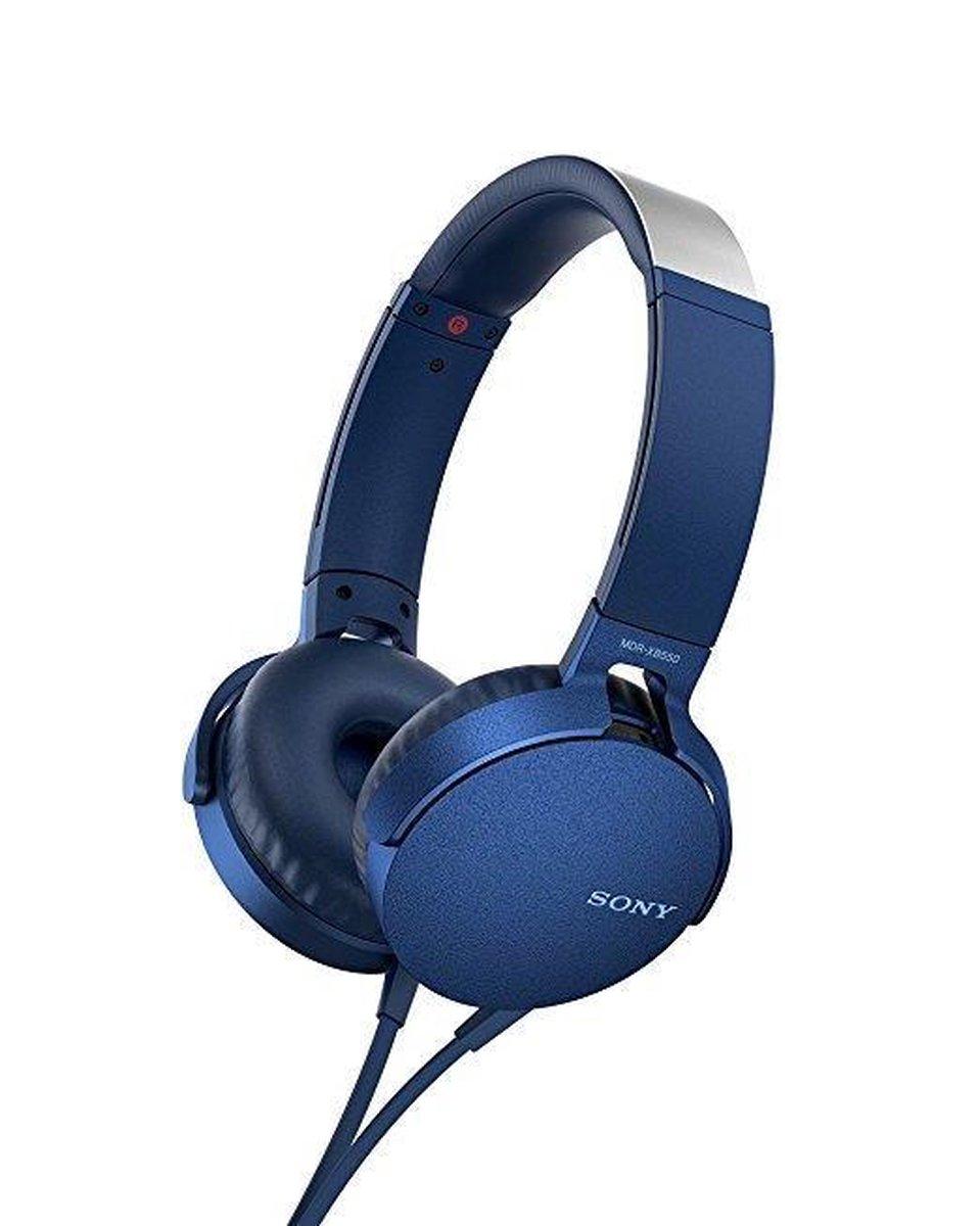 Sony MDR-XB550AP – On-ear koptelefoon – Blauw