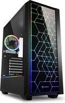 Sharkoon RGB LIT 100 Midi ATX Tower Zwart