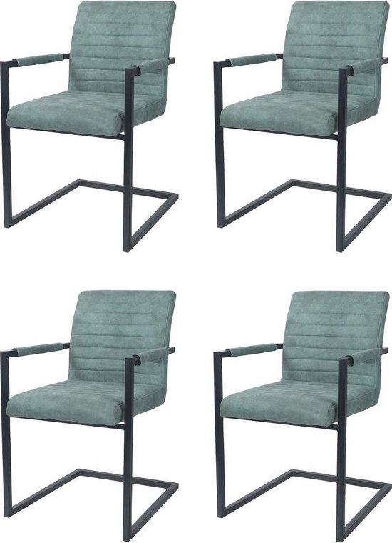 Eetkamerstoel Set van 4 groen horrba design